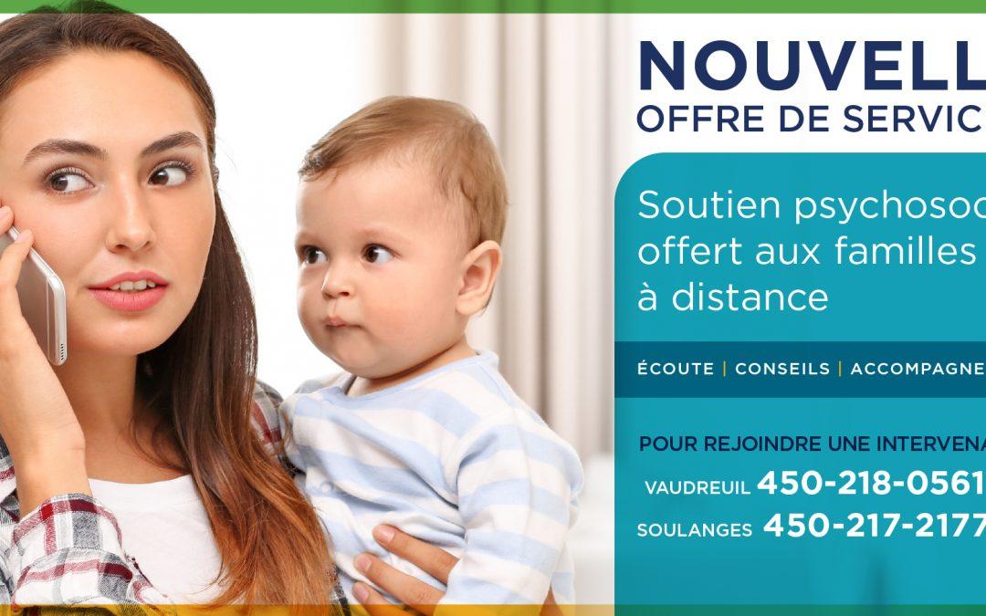 La Maison de la Famille Vaudreuil-Soulanges implante un service de soutien psychosocial